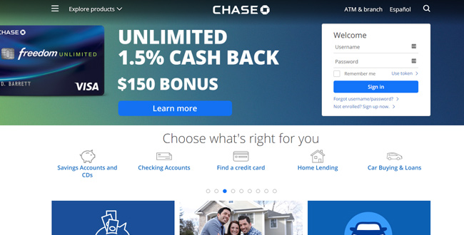 Chase Freedom Login Steps