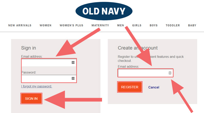 Old Navy Credit Card Payment Login