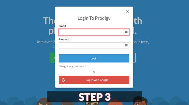 prodigy game login