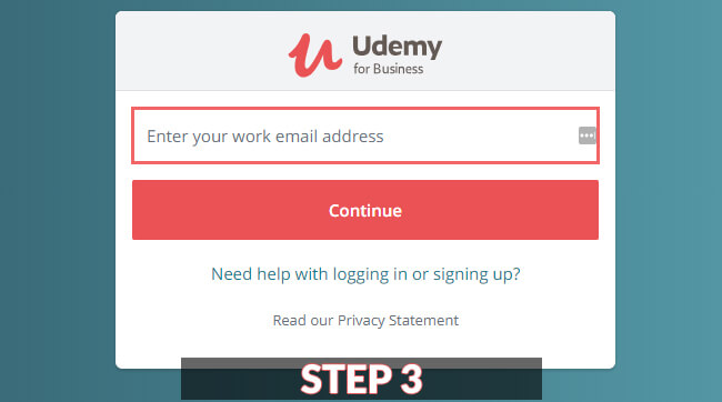 udemy for business login