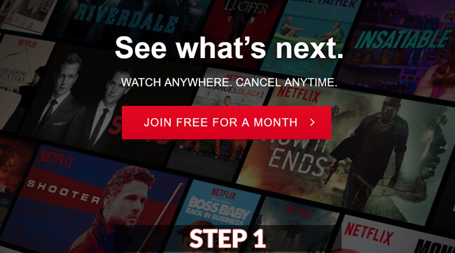 netflix login guide screenshot